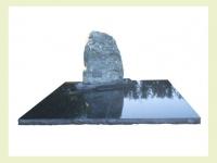 Verde ventura met zwart granieten dekplaten met ruwe kant