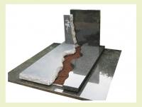 Eigen ontwerp gepolijst en gezoet zwart graniet