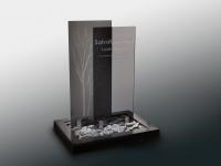 Glazen urnmonument - Qast