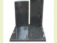 Urnsteen van graniet met dubbele zuil