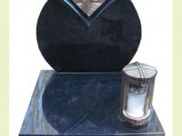 Urnsteen rond met brons